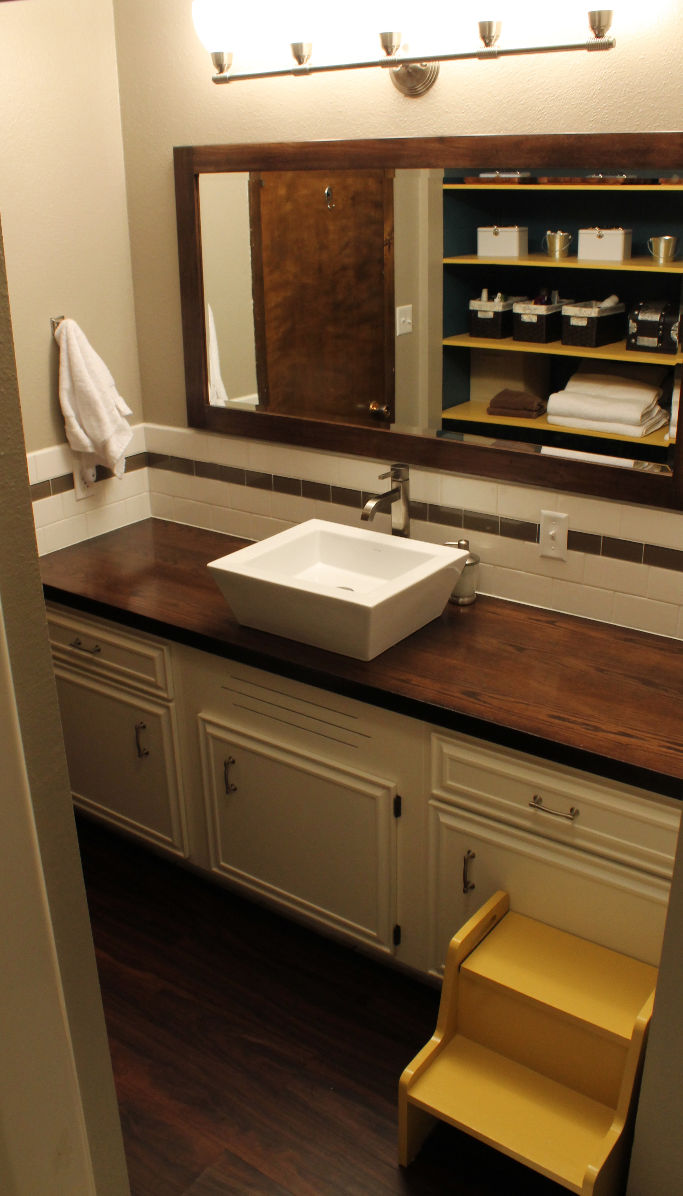 Bath Vanities With Tops : Wood countertop