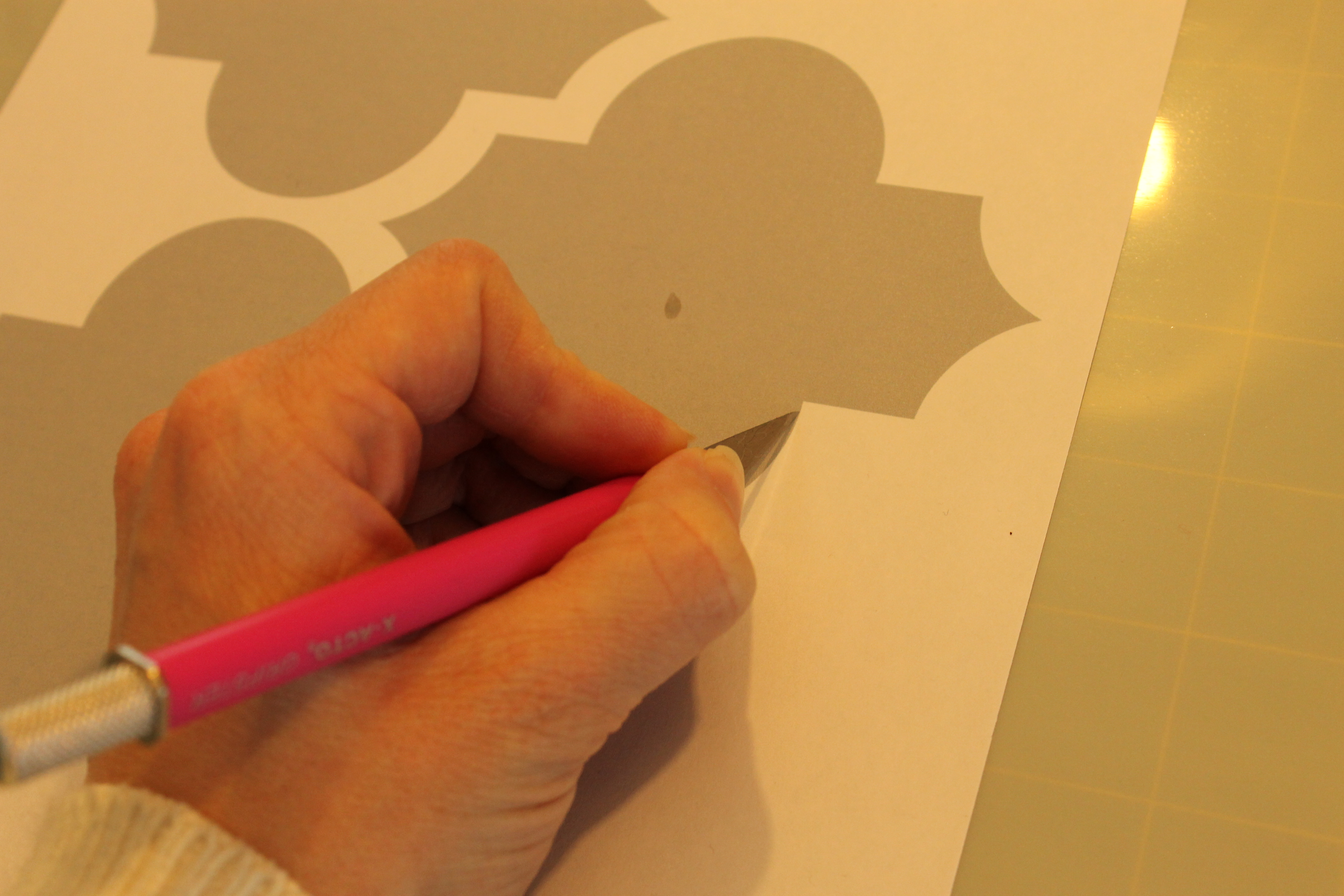 Making a Big Impact in a Small Space with Wall Stenciling |