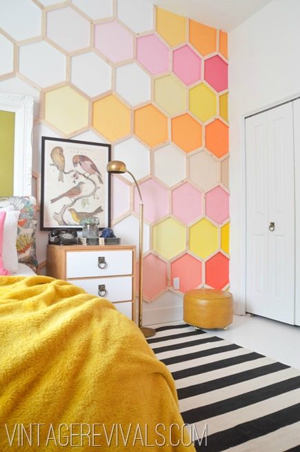 Citrus Rainbow Hexagon Wall @ Vintage Revivals[2]