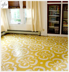 yellow diy floor