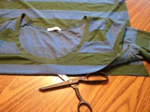 Fold bodice beneath armpits and cut