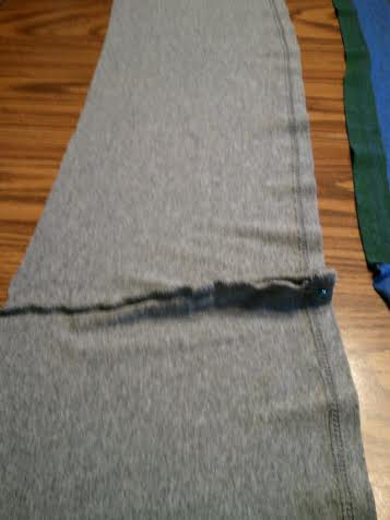 Sew a dart to straighten it out if needed