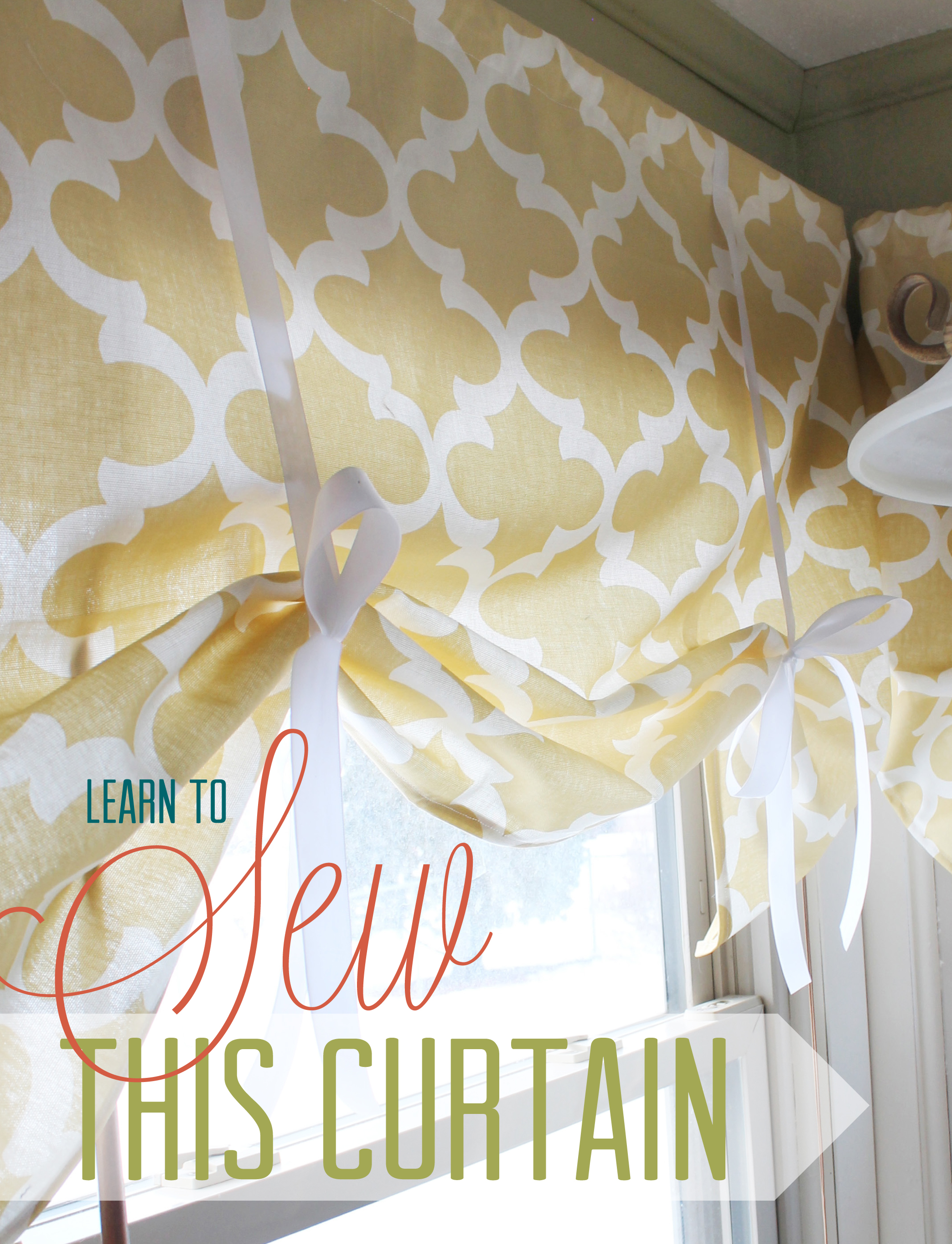 How to make simple curtains - Learn To Sew This Curtain